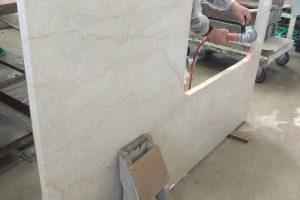 ボテチーノ 大型のキッチン天板は、ビックサイズのシンク穴!